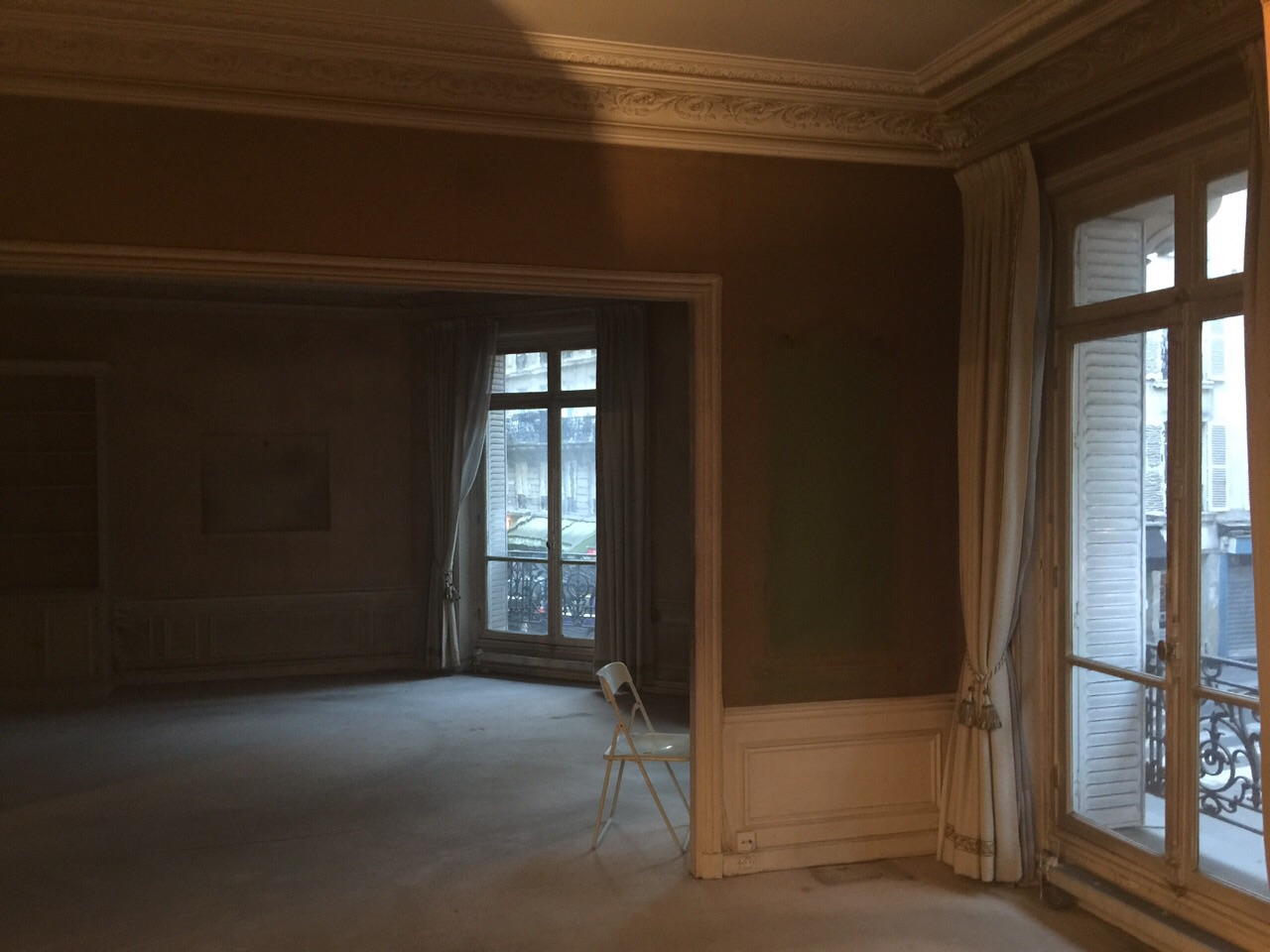 Coralie aubert appartement haussmannien 140m une for Renovation salon salle a manger