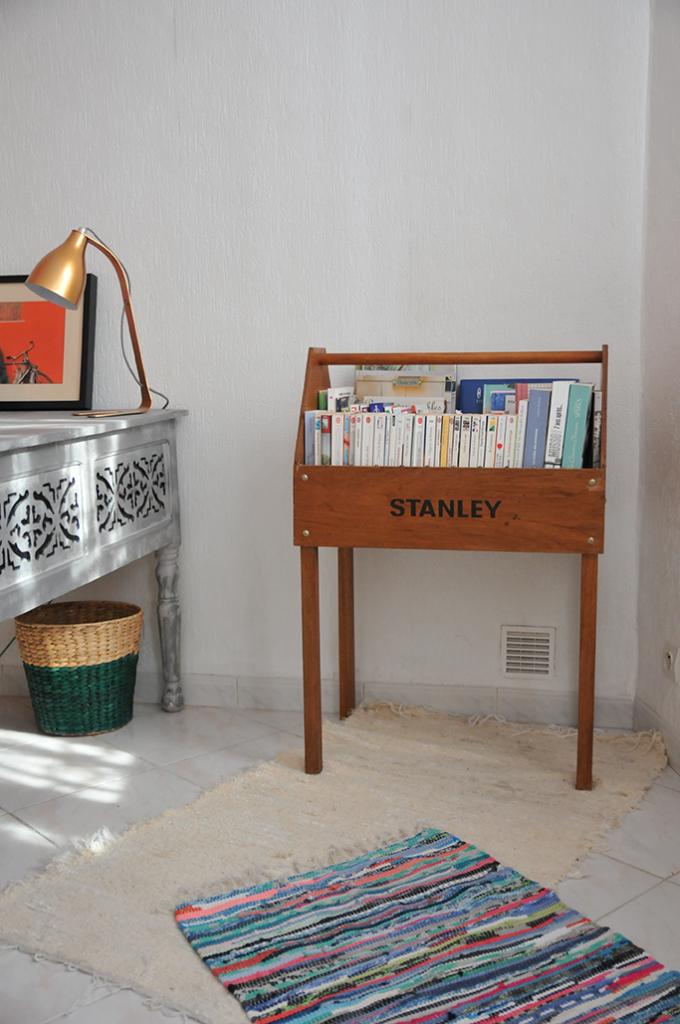 bibliothèque chambre tapis kilim décorateur d'intérieur marseille