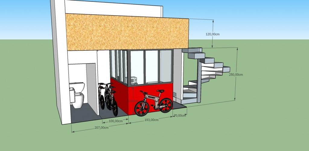 Espace détente Magasin vélo Coralie Aubert Décorateur d'intérieur