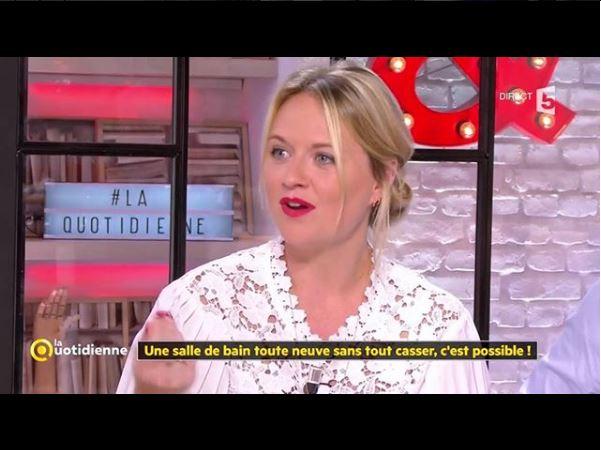 France 5 La Quotidienne - émission décoration d'intérieur rénovation de salle de bain coralie aubert architecture d'intérieur marseille