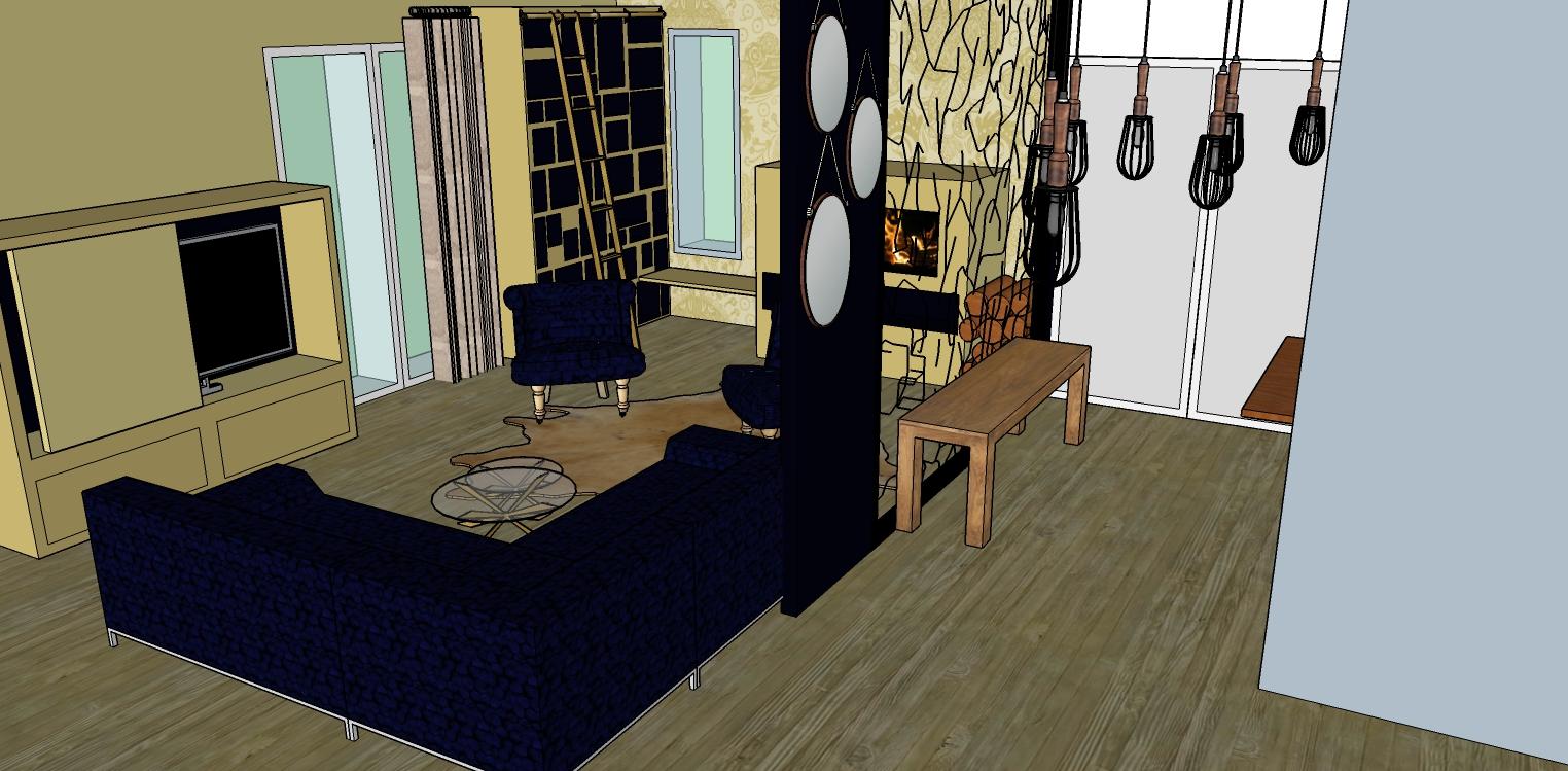 Maison construction neuve entrée et salon provence coralie aubert décorateur d'intérieur marseille